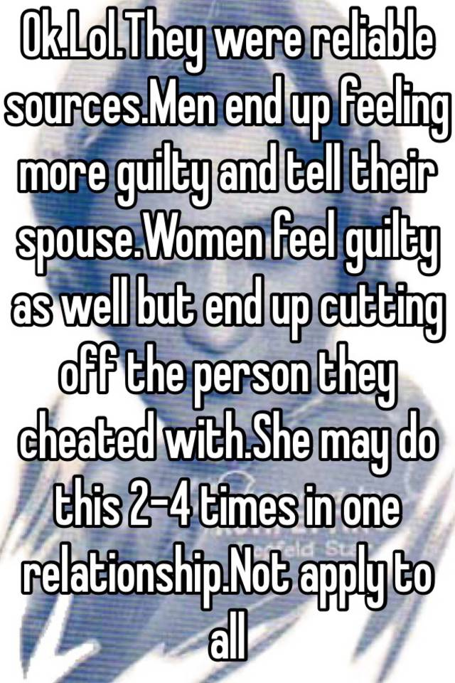 Signs She Feels Guilty For Cheating