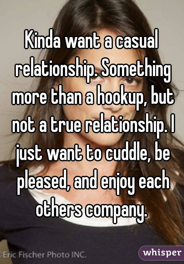 What is a casual hookup relationship