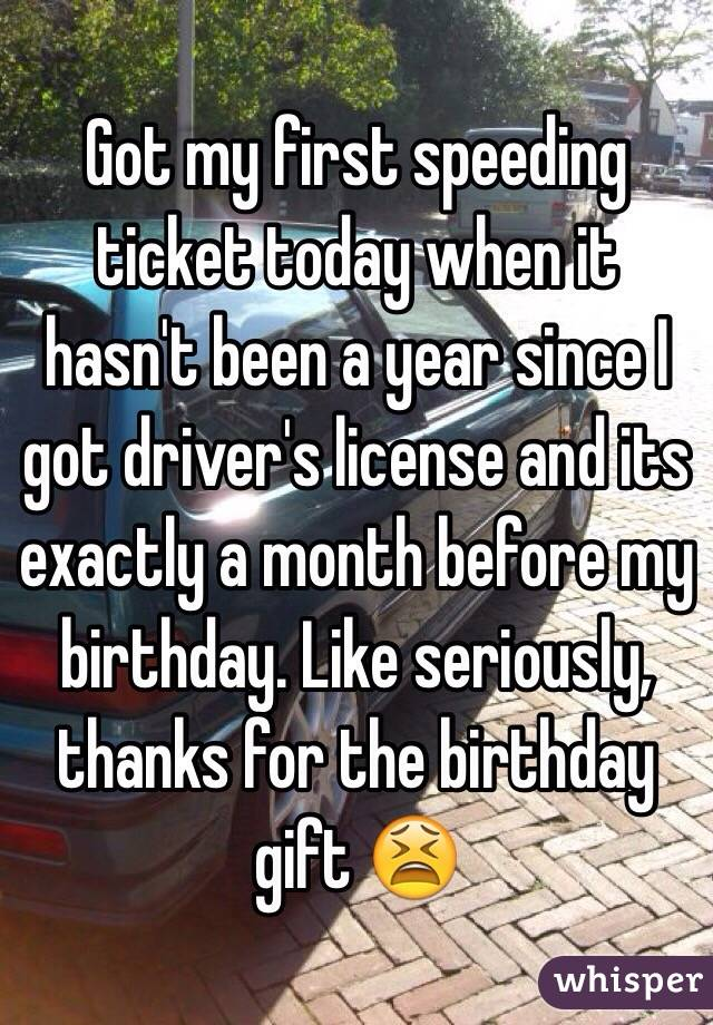 I Got My First Speeding Ticket What Do I Do