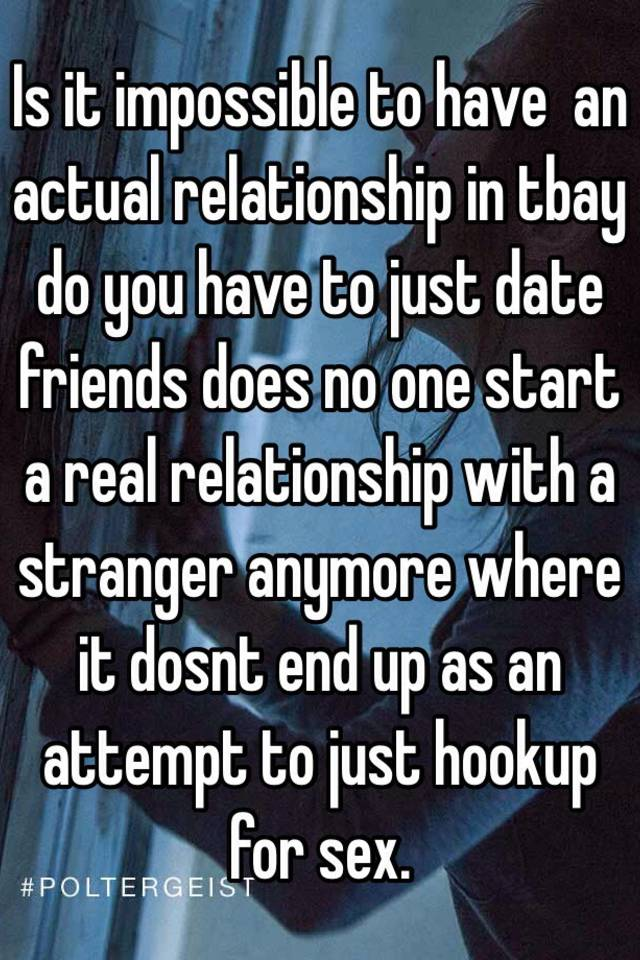 Ending a hookup relationship