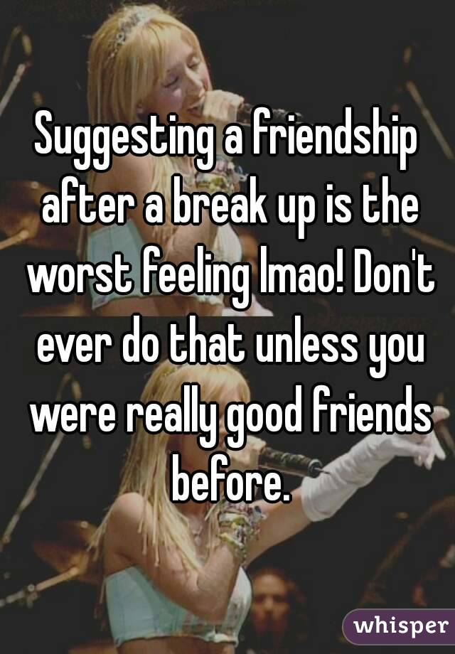 How to stay friends after a breakup