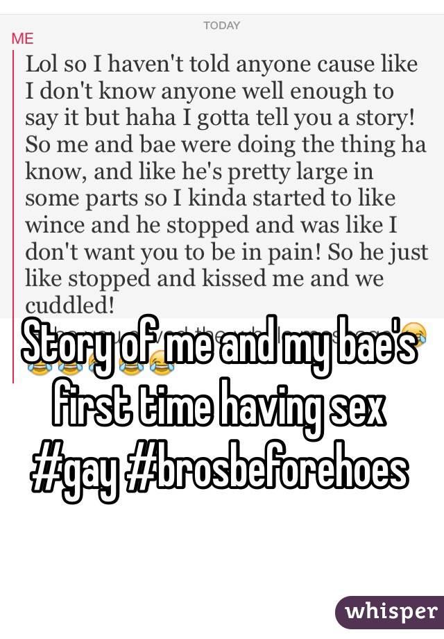 Fisrt Time Sex Stories