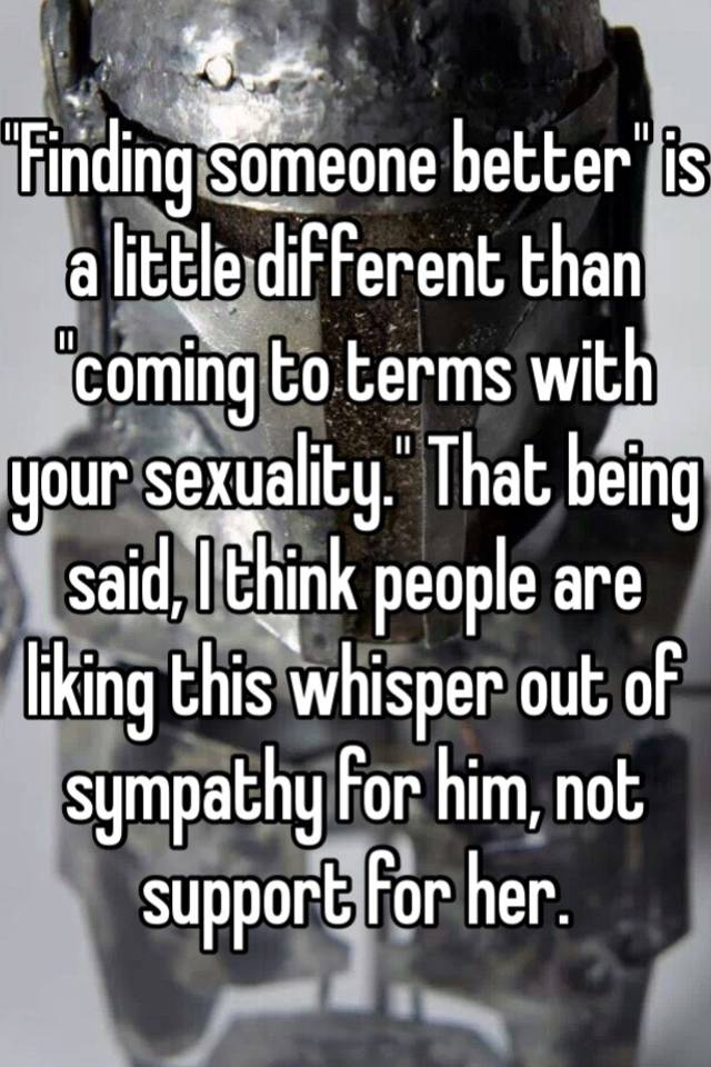 Coming to terms with sexuality