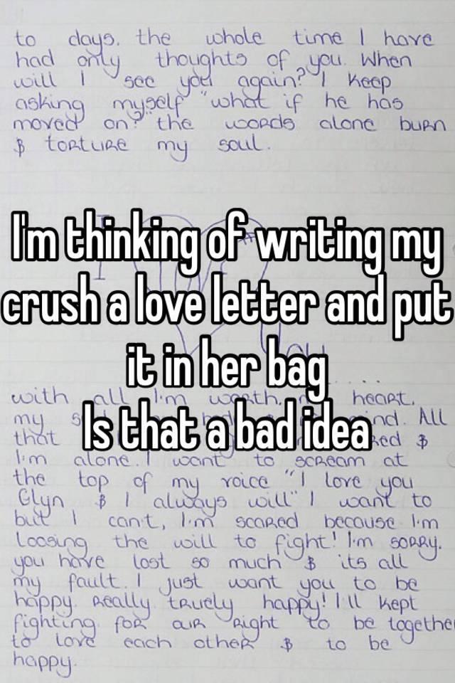 Love letter for crush