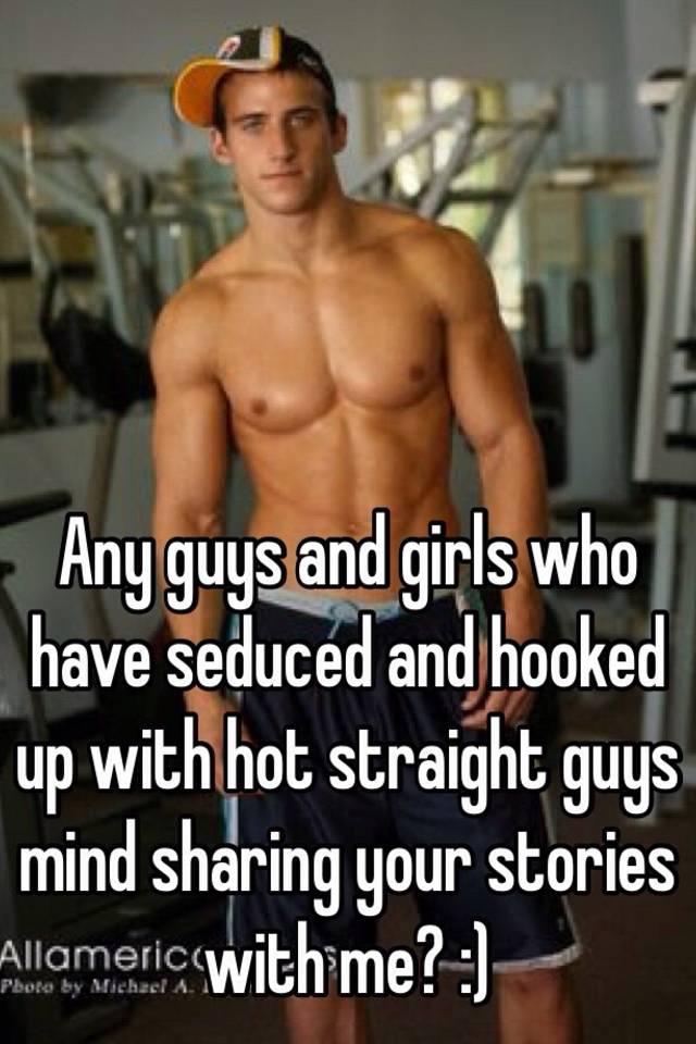Straight guys hook up