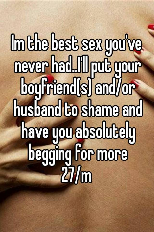 Best had never sex