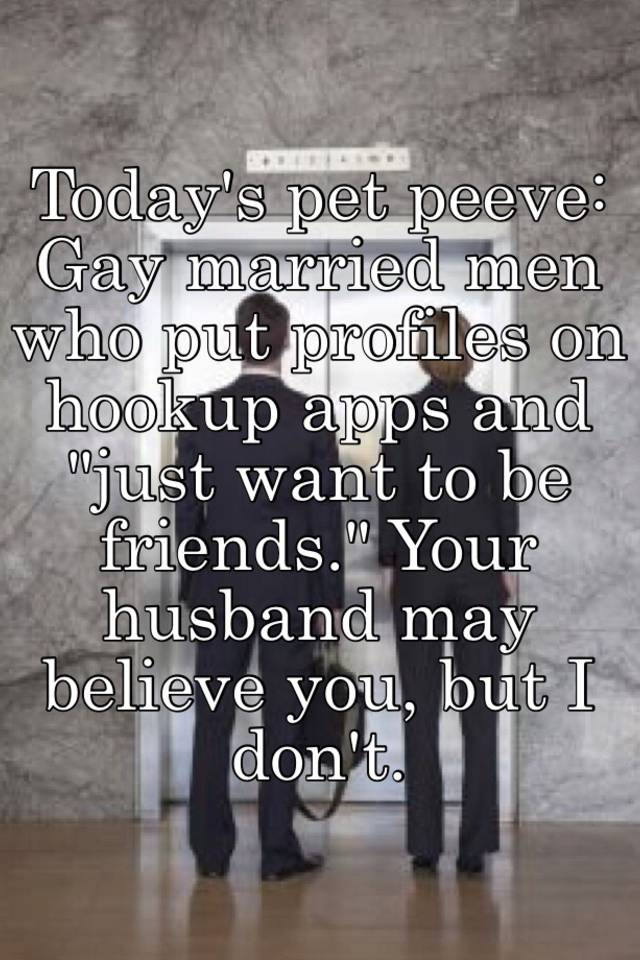 I Gay And Hookup A Married Man