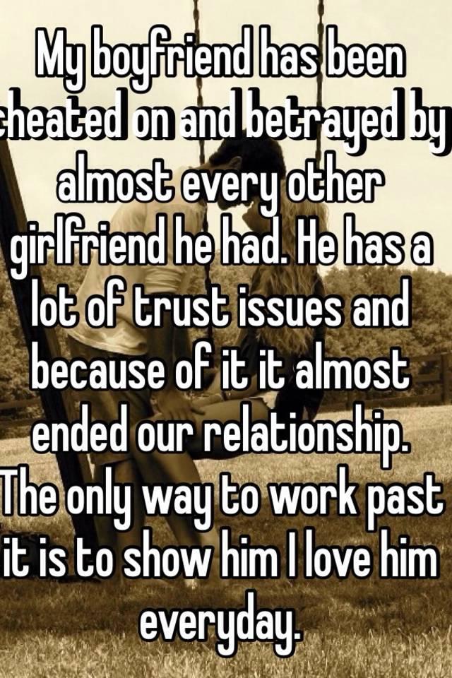 My girlfriend betrayed my trust