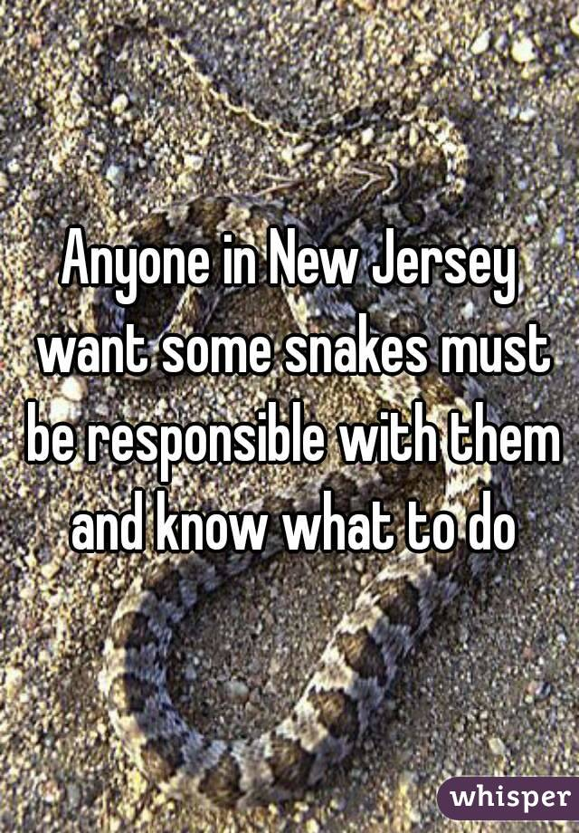 Anyone in New Jersey want some snakes must be responsible with them and know what to do