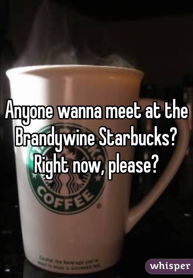 Anyone wanna meet at the Brandywine Starbucks? Right now, please?