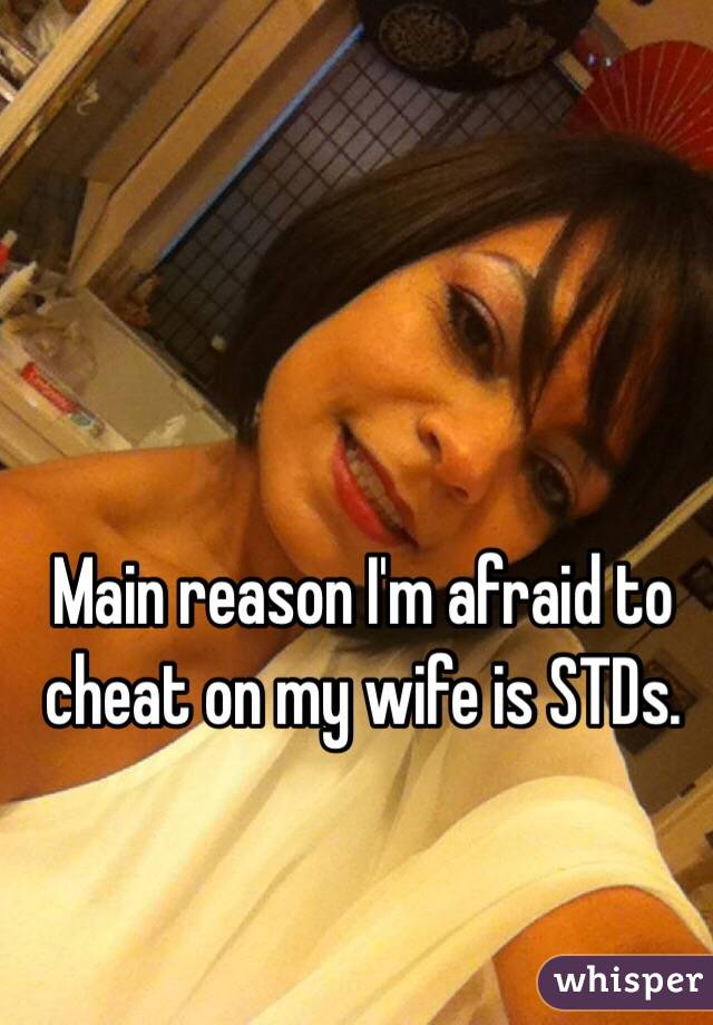 Main reason I'm afraid to cheat on my wife is STDs.