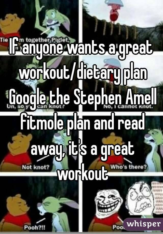If anyone wants a great workout/dietary plan Google the Stephen Amell fitmole plan and read away, it's a great workout