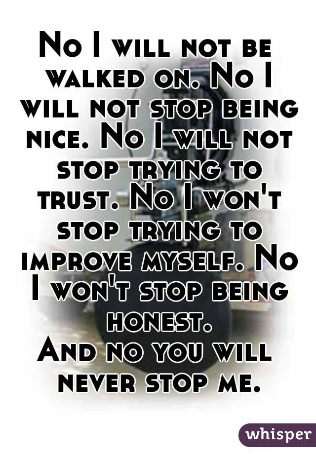 how to stop being nice