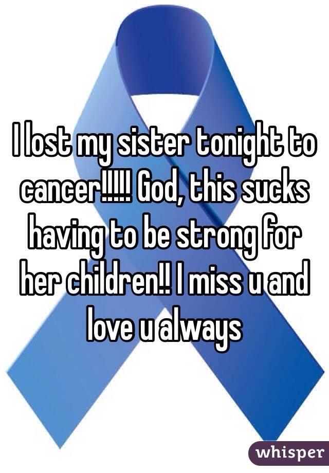Sisters always suck