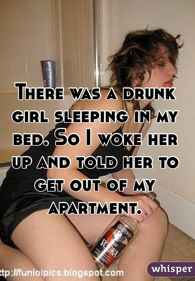 Final, sorry, Sleeping drunk girls apologise, but