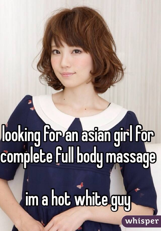 White girl asian massage