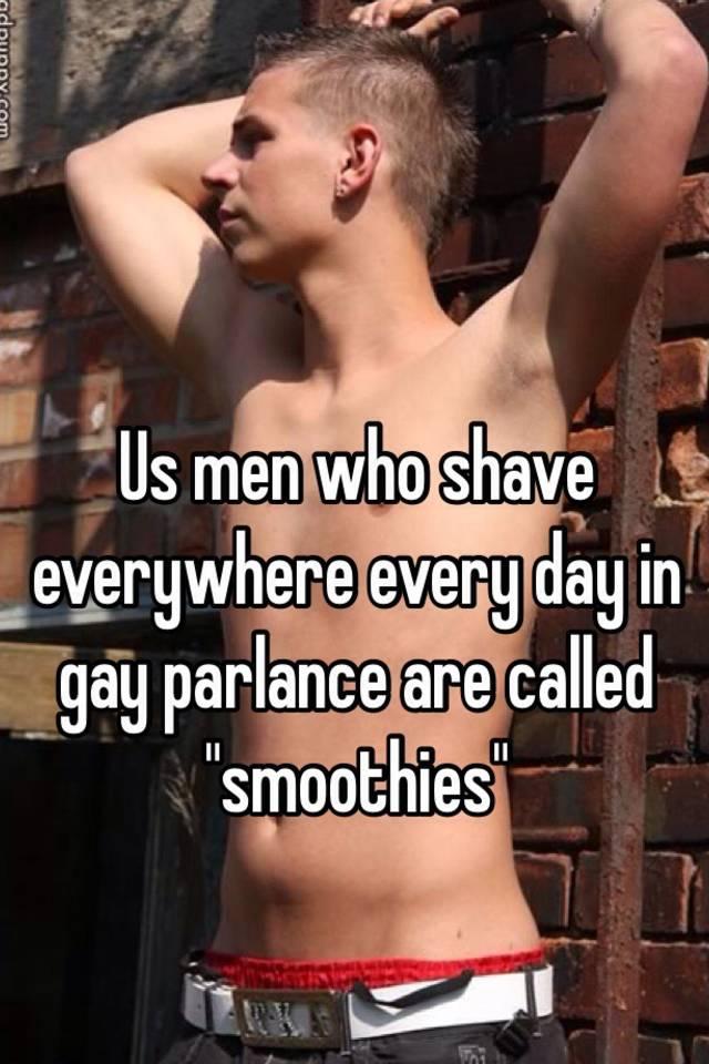 Erotic shaven smoothie