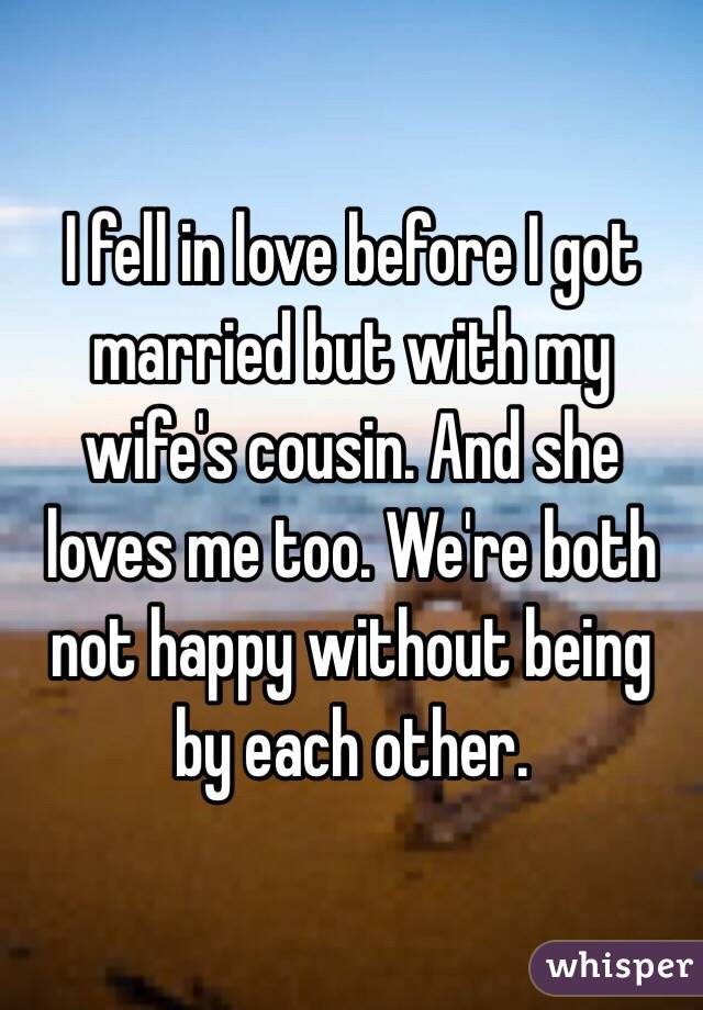 Married but not in love with my wife