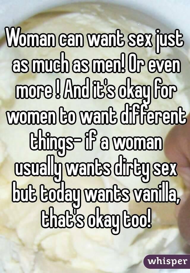 Do women want sex as much as men