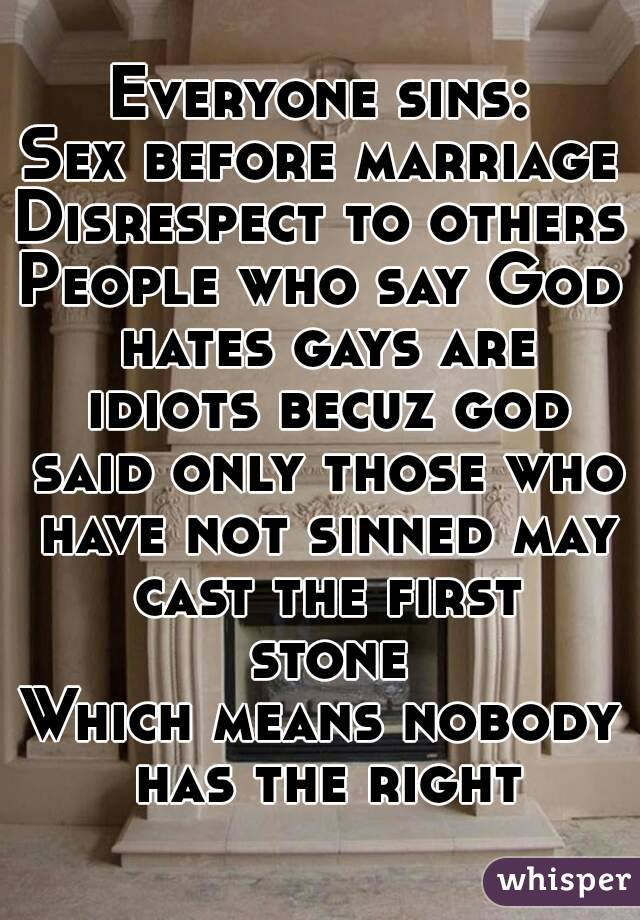 God sex before marriage