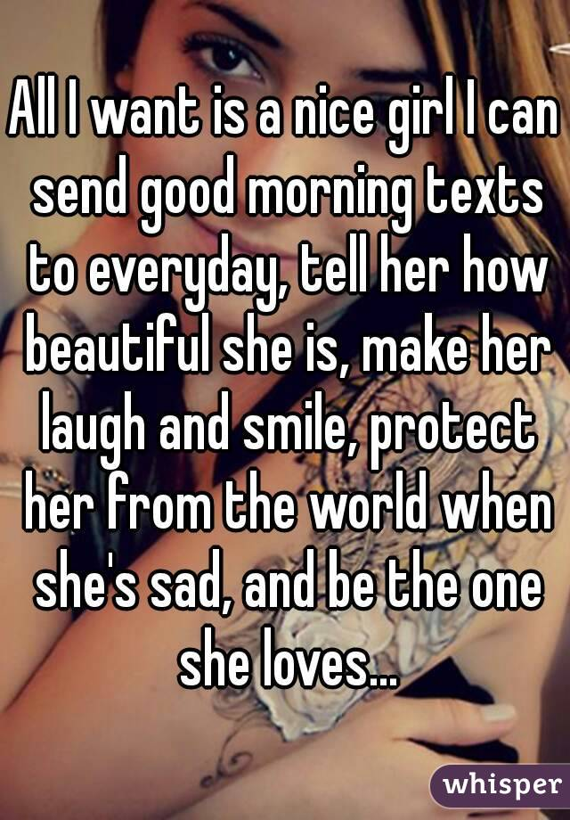 Nice text to a girl