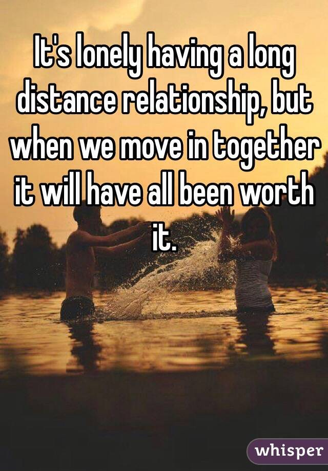 Moving for a long distance relationship