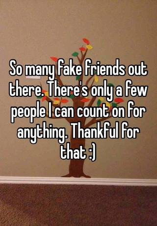 so many fake people