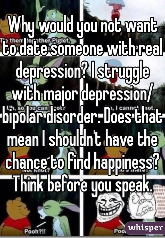 Dating someone with depression and bipolar