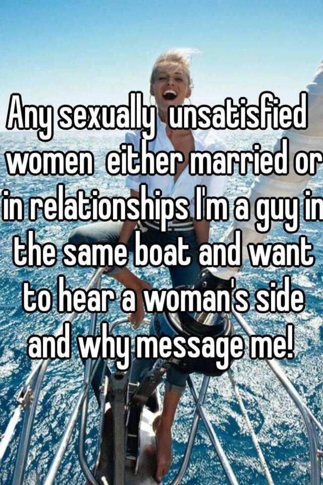 Unsatisfied married women