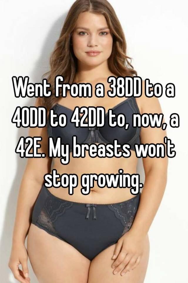 38dd breasts