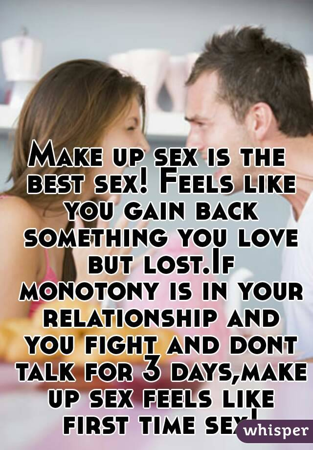 Is makeup sex good for a relationship