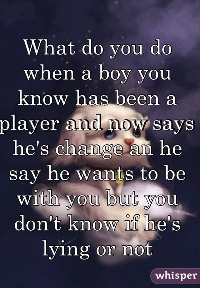how to tell hes a player