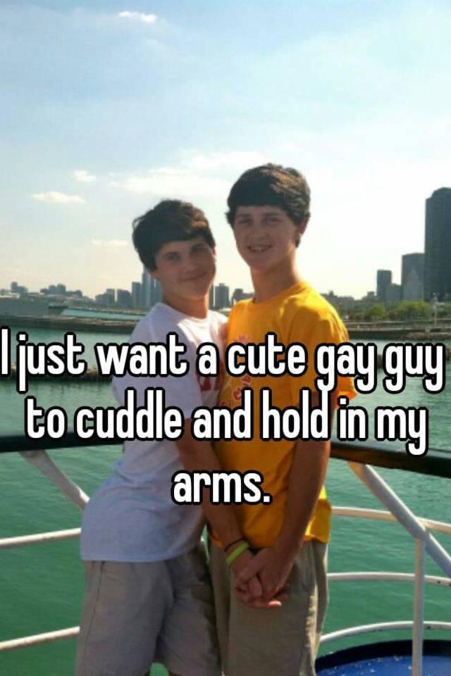 guys Cute cuddling gay