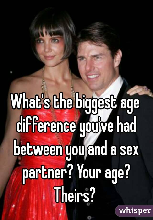 What time? age difference sex are mistaken