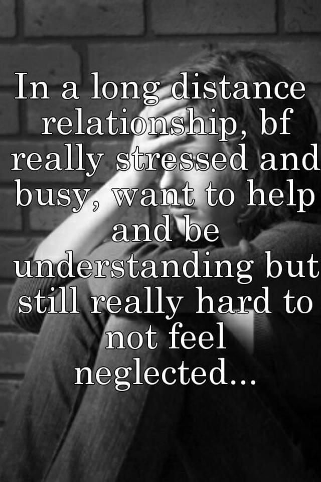 long distance relationship stress