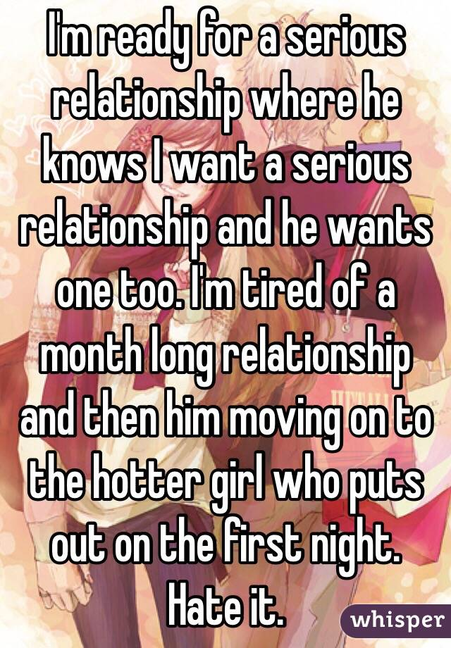 For Ready A Relationship Is He Serious