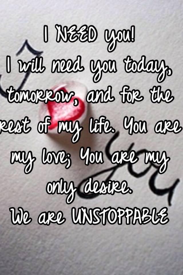 Love need my you i My Love