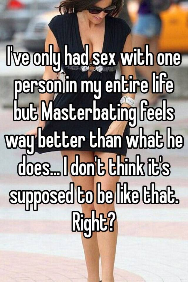 What is sex with one person