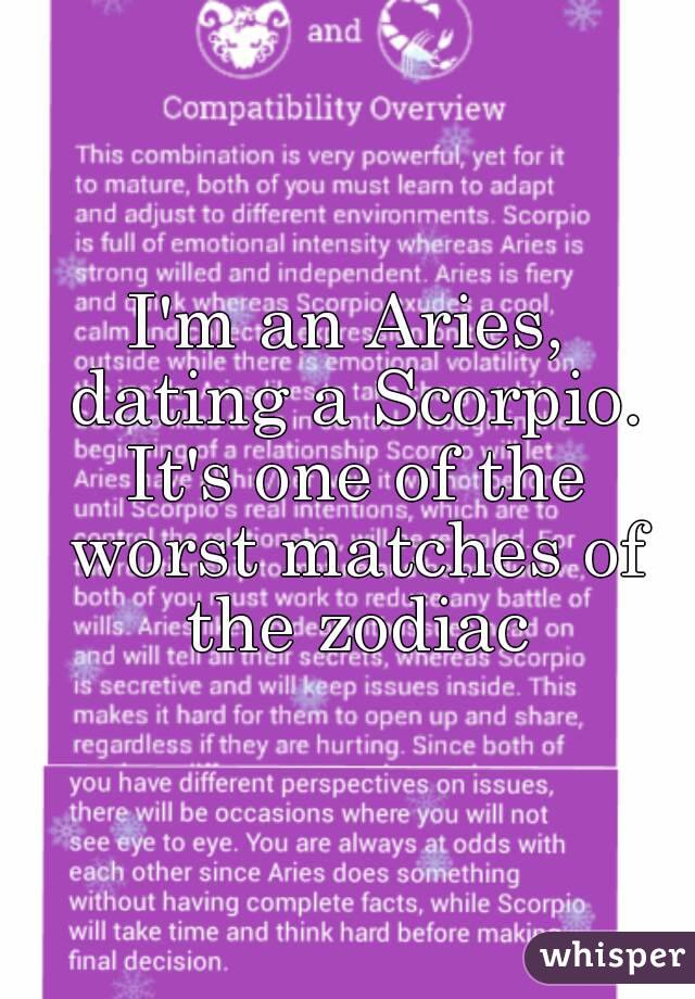 Aries and scorpio dating