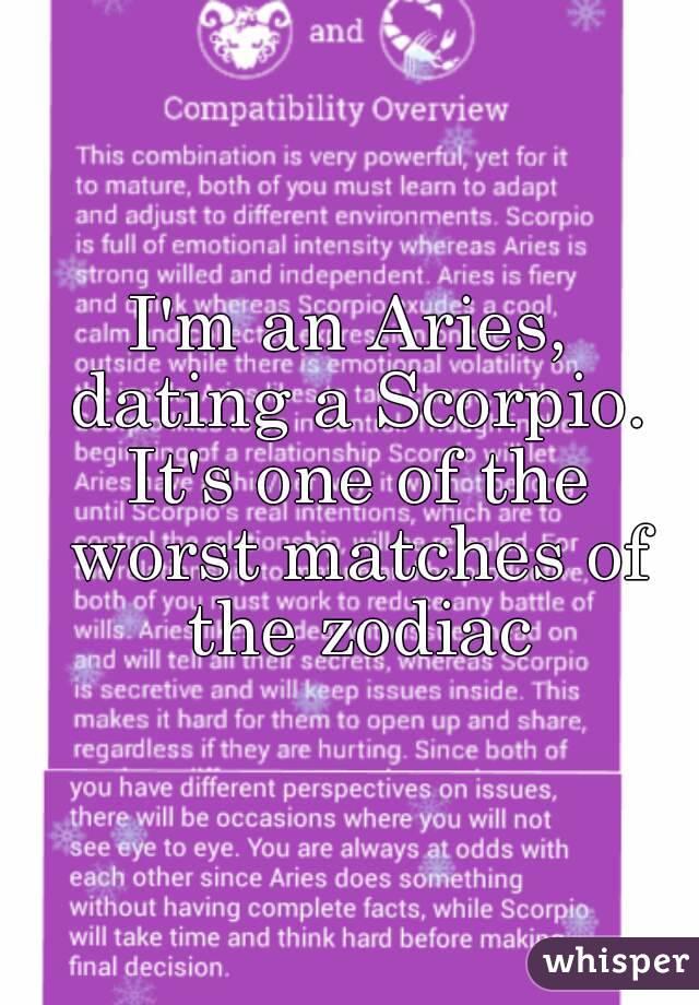 Aries and scorpio dating