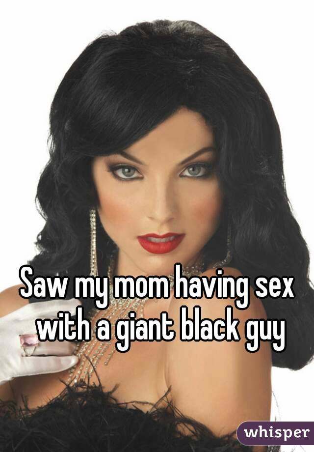 Mom has sex with black guys