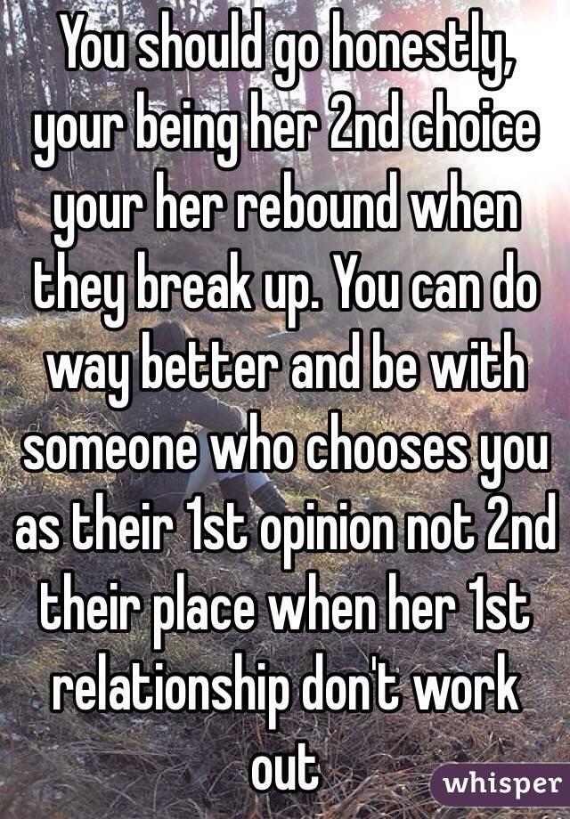 Rebound relationships don t work