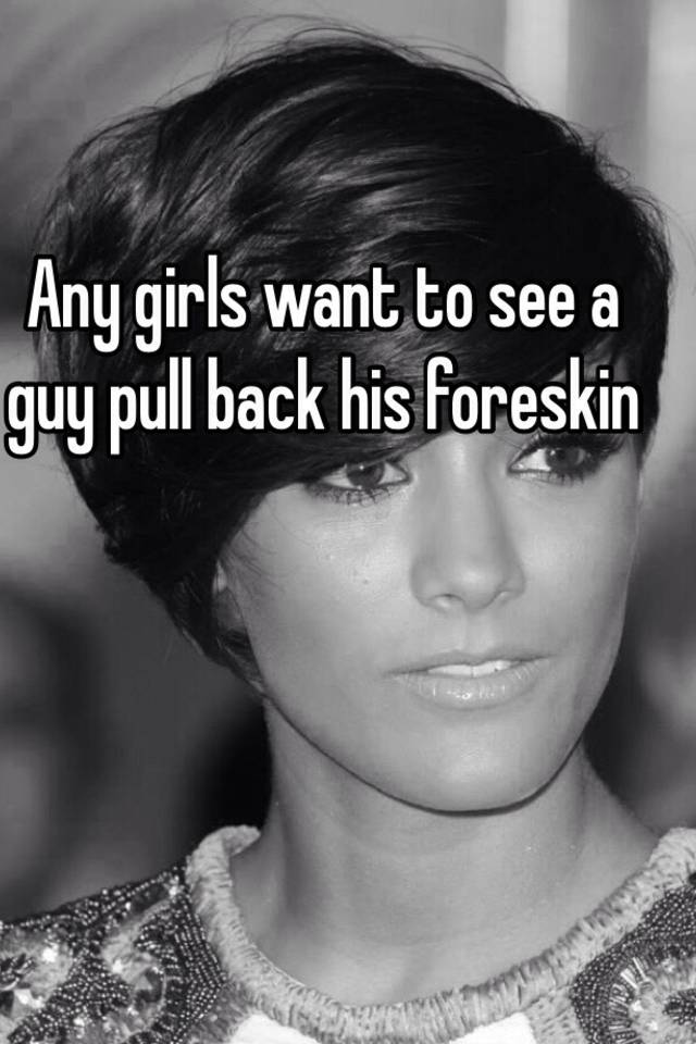 Girls and foreskin