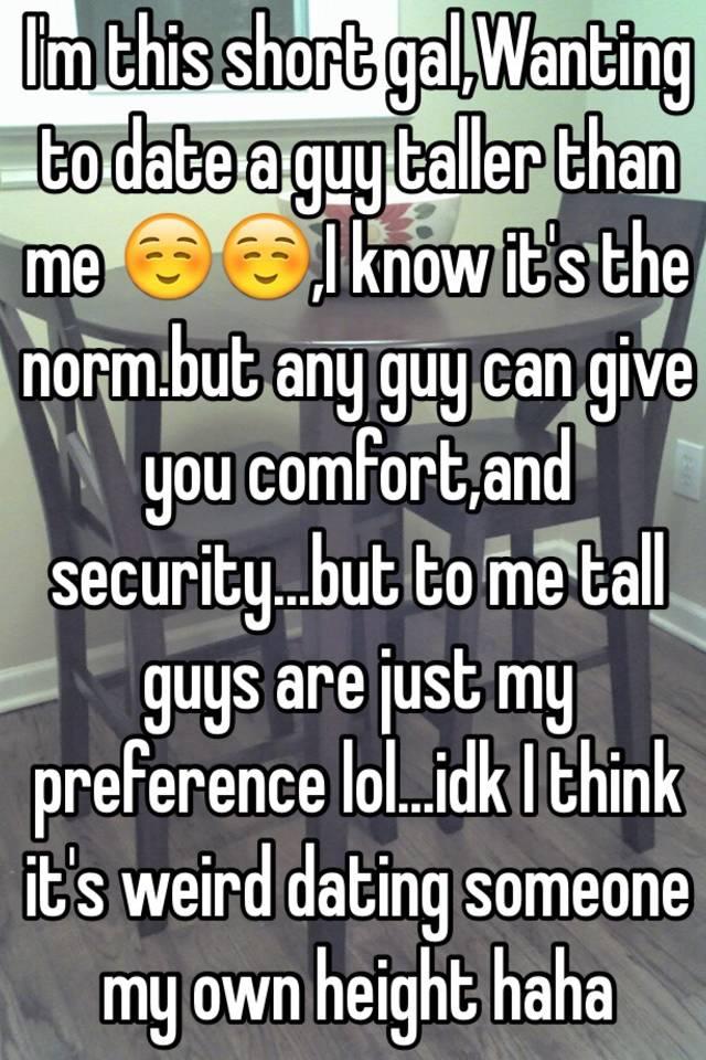 Dating a guy way shorter than you