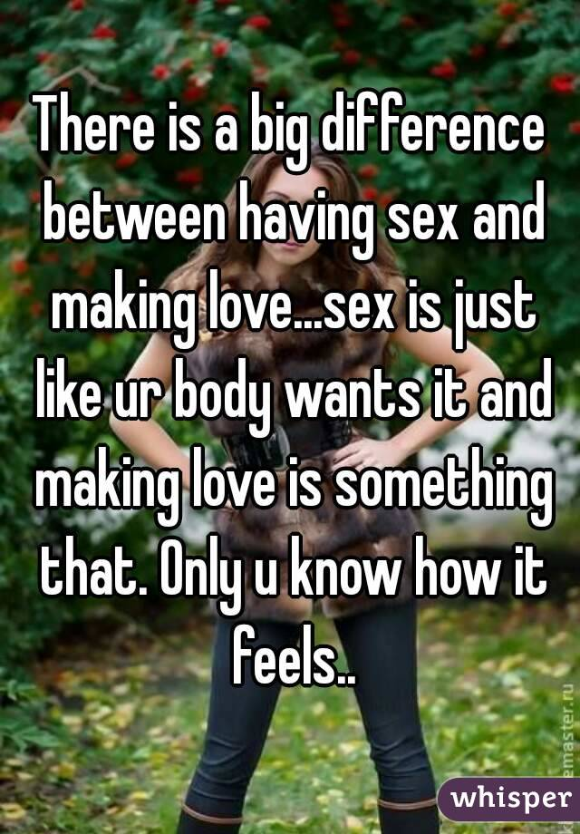 what is the difference between love and sex