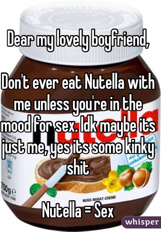 Sex food nutella, crazy blowjobs