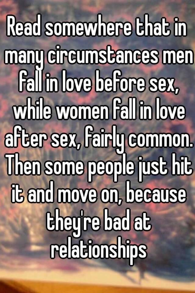 Do Men Fall In Love Through Sex