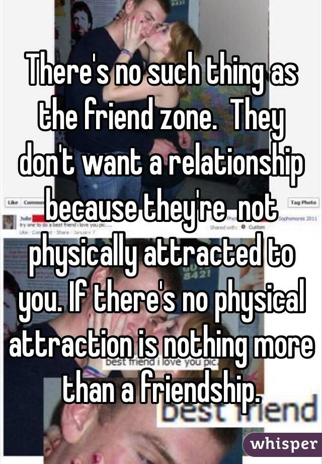 No physical attraction