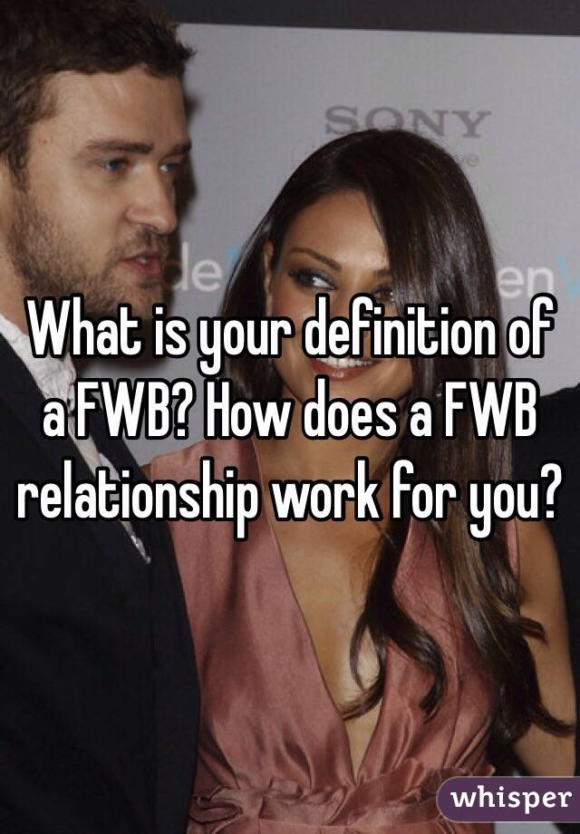 what is fwb means