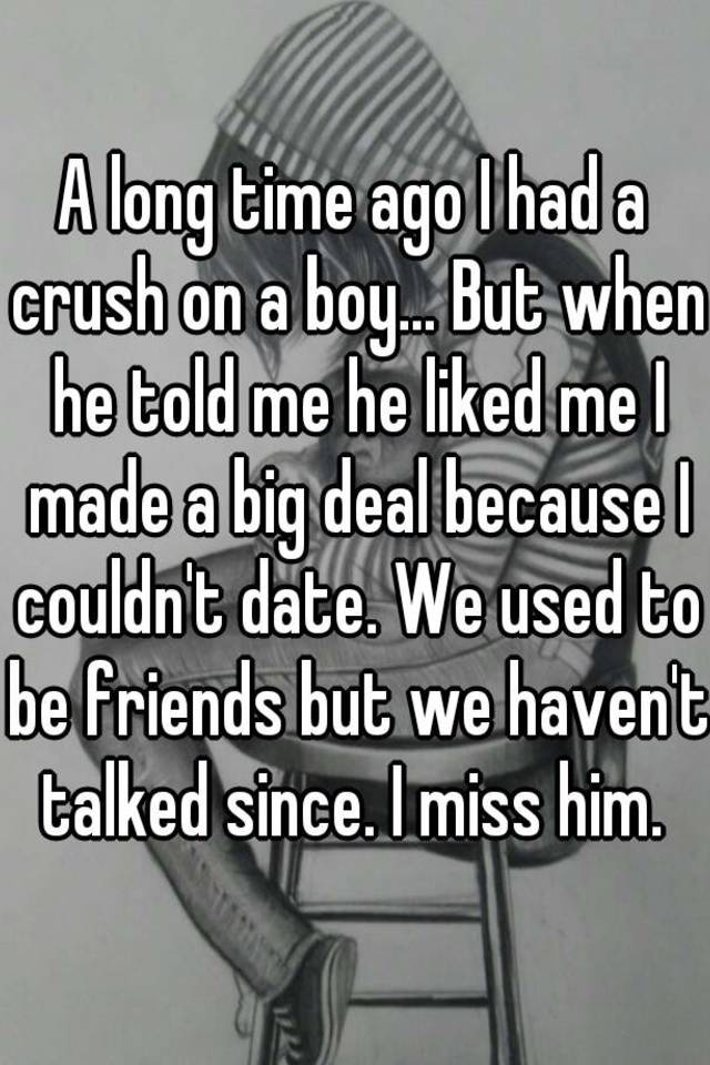 Dating a long time friend